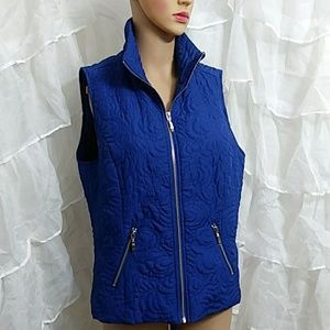 New CHRISTOPHER & BANKS Zip Front Quilted Vest M45